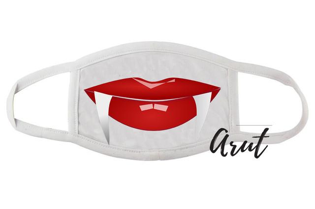 Многоразовая защитная маска губки с клыками