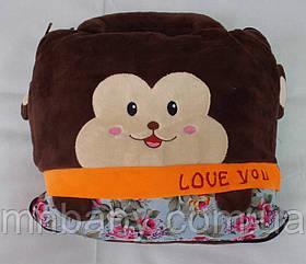 """Плед-подушка-игрушка-сумка """"Мартышка"""""""