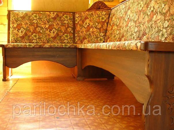 Кухонный уголок из массива дерева