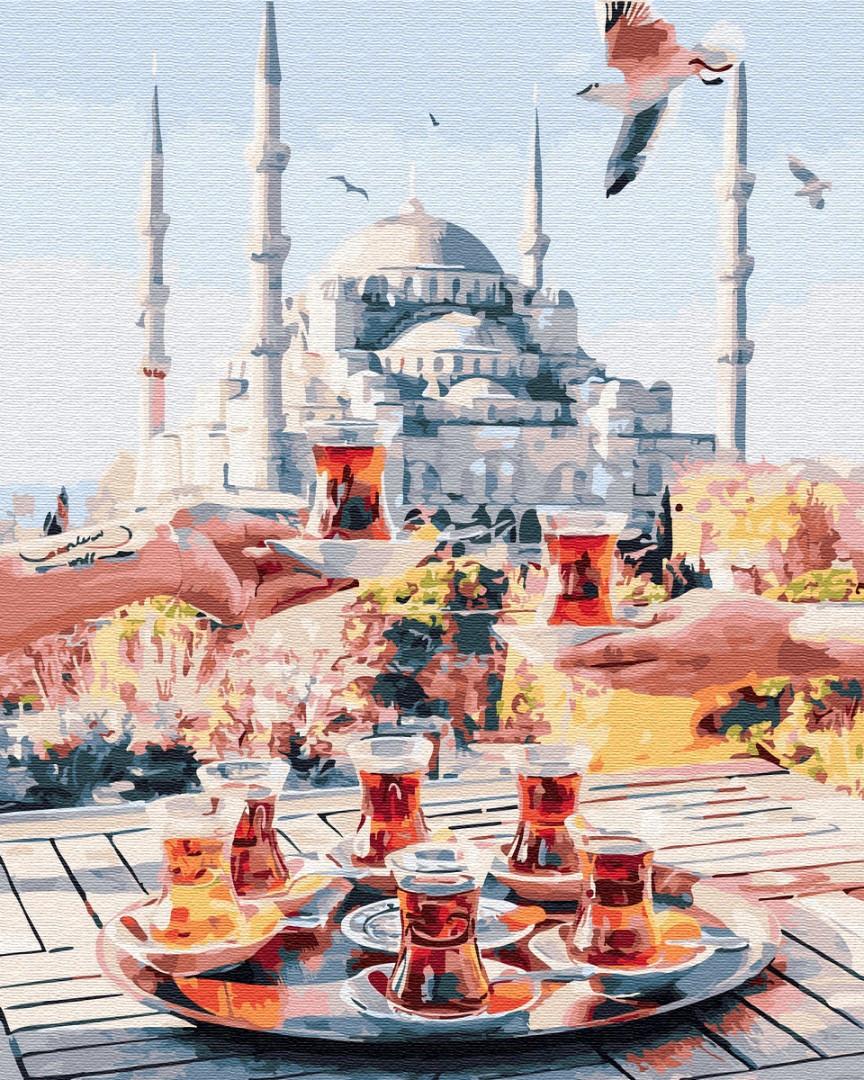 Картина по номерам 40*50см. GX34798 Чаепитие в Стамбуле Brushme