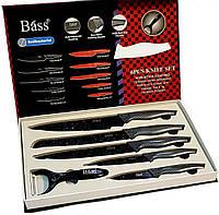 """Набор ножей 5шт.+овощечистка """"Bass""""(B6980), ножи из нержавеющей стали  лазерной заточки, фото 1"""