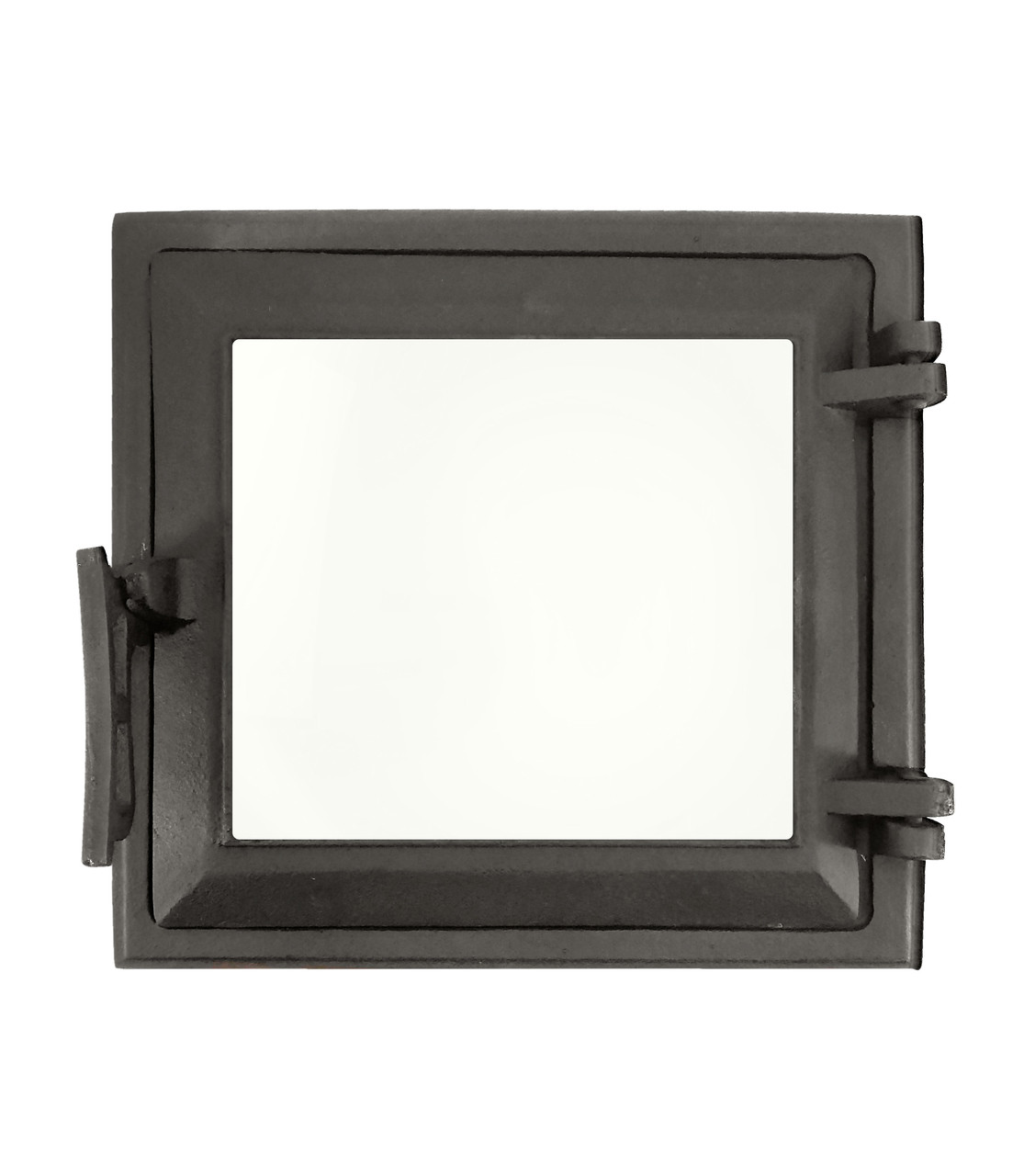 Топочная дверца для печи со стеклом 265х250 мм, чугунная печная дверка 102874