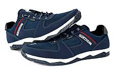 Кросівки літні чоловічі сині кроссовки 40, 44 розмір, фото 3