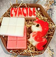 Подарок на день рождения, учителю,юбилей, праздник - единорожка, надпись и 2 плитки шоколада из мыла
