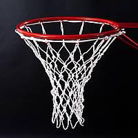 Сетка баскетбольная «СТАНДАРТ», шнур диаметром 4,5 мм. (стандартная) белая для Республики Беларусь