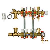 """Сборный узел для систем напольного отопления с расходомерами 1"""" X18 /5 (Giacomini)"""