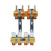 """Сборные коллекторы для систем отопления с расходомерами 1"""" X18 /9 (Giacomini)"""