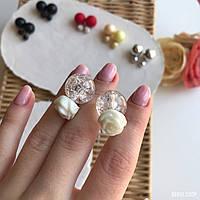 """Серьги """"Шанель"""" белые розы  (пуссеты), гвоздики., фото 1"""