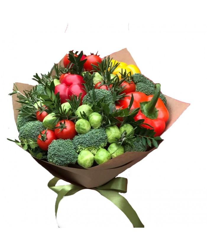 Овощной букет вегетарианский подарочный поздравительный