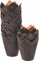 """Форма бумажная """"Тюльпан"""", коричневый, 50*75, форма для кексов и капкейков 100 шт"""