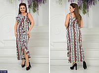 Длинное женское платье питон размеры 48-54 BB-9987