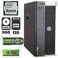 Комп'ютер DELL T3600 (Xeon E5-1620/16Gb/500gb/ssd 120Gb/Quadro 450) БО