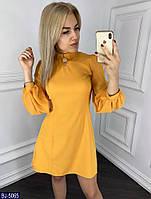 Модное короткое женское платье с шифоновыми рукавами размеры 42,44 BJ-5065