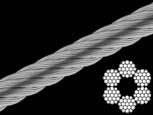 Трос стальной оцинкованный DIN 3060 6 mm (6x19+1FC) (бухта 100 м)