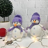 Игрушка детская вязанная ручной работы «Снеговичок», фото 1