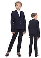 """Пиджак школьный для девочки м-922 рост 134 и 140 черный тм """"Попелюшка"""", фото 1"""