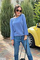 Молодежный ангоровый свитерок с нашивками размеры 50-56 BW-5379