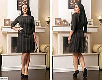 Модное женское платье вельвет размеры 48-62 BY-5426