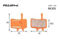 Колодки тормозные полуметалл disc RISK RK305-S AVID BB7,Juicy3/5/7