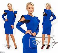 Красивое приталенное платье по фигуре размеры 42-46 DO-2918