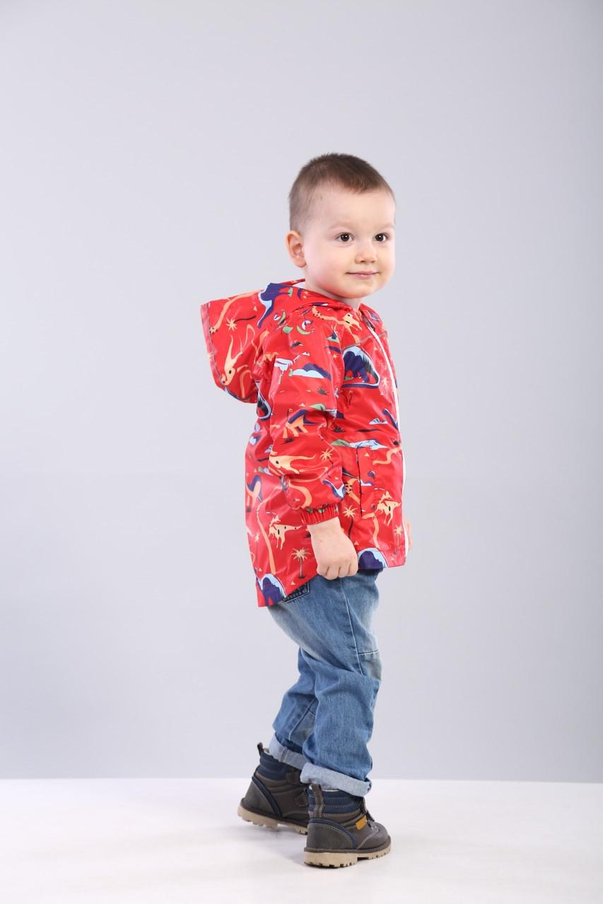 Дитяча вітровка для хлопчика на трикотажі 92, 98, 104, 110, 116, 122