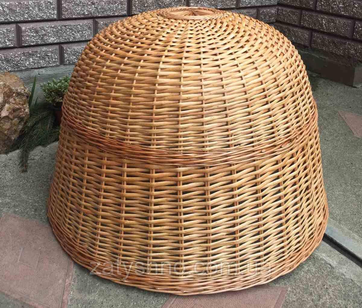 Габаритная люстра плетеная | люстра из лозы лакированая  /плетеной светильник для магазина