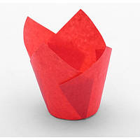 """Форма бумажная """"Тюльпан"""", оранжевый, 50*75, форма для кексов и капкейков 100 шт"""