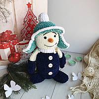 Вязанная детская игрушка ручной работы «Снеговик», фото 1