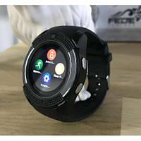 Bluetooth Смарт часы, Smart Watch V8 черные, Умные часы с блютуз и сим картой, Ударопрочные часы-телефон
