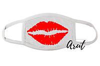 Стильная маска для лица Поцелуй