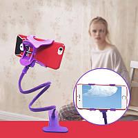 Универсальный гибкий держатель для телефона с прищепкой,  Держатель для мини камер на гибкой ножке, Штатив