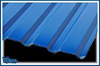 Профнастил стеновой ПС-20 RAL 5005 Сигнальный синий цвет.