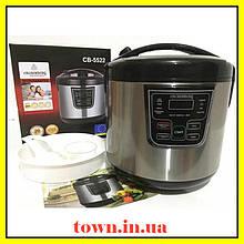 Профессиональная мощная мультиварка для дома Crownberg CB-5522. Пароварка многофукциональная