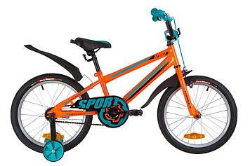 """Велосипед 18"""" Formula SPORT 14G St с крылом Pl 2019 (оранжево-бирюзовый)"""