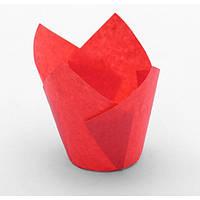 """Форма бумажная """"Тюльпан"""", оранжевый, 50*80, форма для кексов и капкейков 100 шт"""