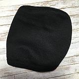 Защитная маска многоразовая хлопковая дышащая, черная, фото 5