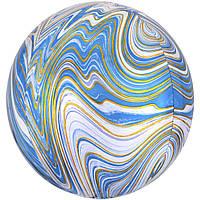 """16"""" (40 см) Сфера агат голубой Anagram США шар фольгированный"""