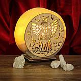 Соляной светильник круглый Ангел 2, фото 6