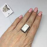 Говлит кольцо с говлитом 16 размер кольцо с камнем говлит в серебре Индия, фото 2