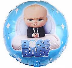 "Фол шар 18"" Круг Boss Baby / Босс Молокосос (Китай)"