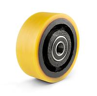 Колесо чугун с полиуретановым контактным слоем, диаметр 125 мм, с подшипниками, без кронштейна