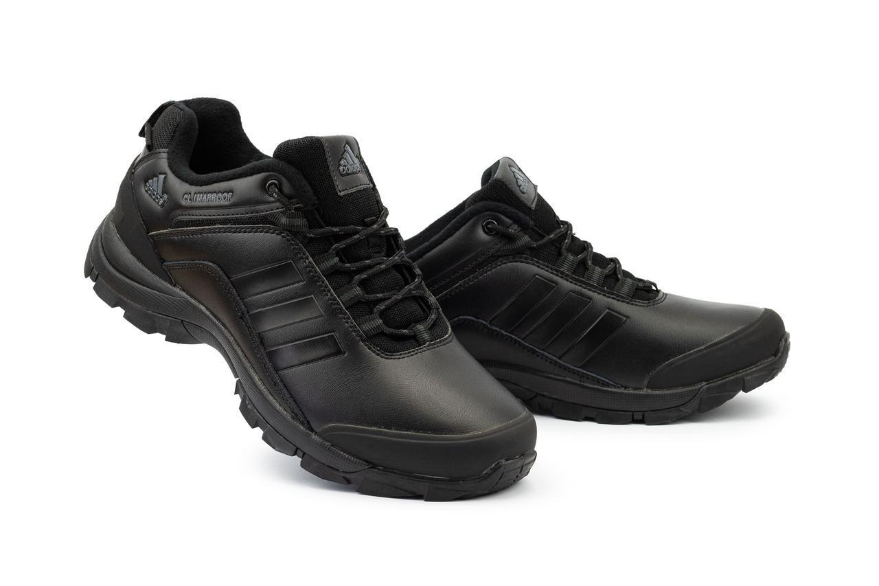 Мужские кроссовки искусственная кожа весна/осень черные Classica МА 803 -5