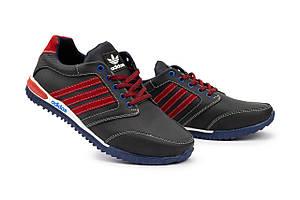 Мужские кроссовки кожаные весна/осень синие-красные CrosSAV 27