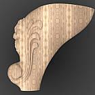 Резная опора. Ножка деревяная 230x155x155. NA-011, фото 2