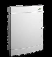 Модульний щиток, встраиваемый, белая дверца Noark PNF 12W, IP40, 1 ряд, 12 модулей