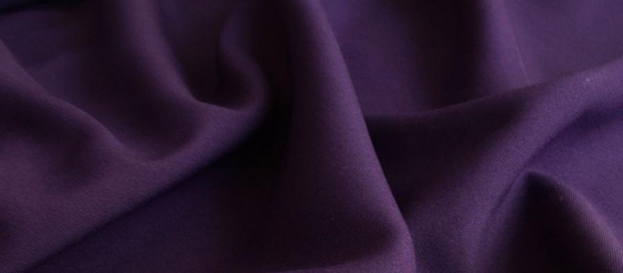 Ткань Габардин баклажан TG-0010