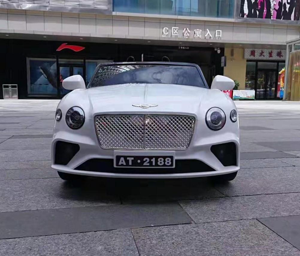 Детский электромобиль T-7644 EVA White Bentley, белый