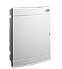 Модульний щиток, що вбудовується, біла дверцята Noark PNF 24W, IP40, 2 ряди, 2x12 модулів