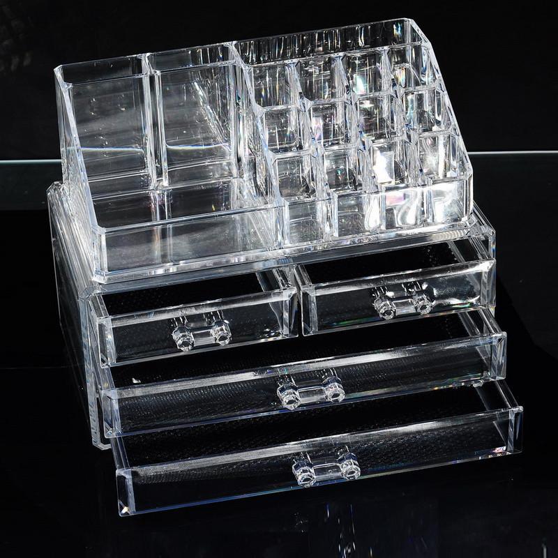 прозрачные контейнеры для хранения косметики купить