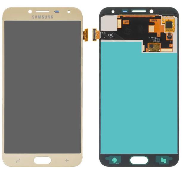 Дисплей (экран) для Samsung J400F Galaxy J4 (2018) с сенсором (тачскрином) золотистый с регулировкой (TFT)